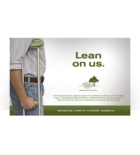 Bone & Joint Clinic-Lean On Us Ad
