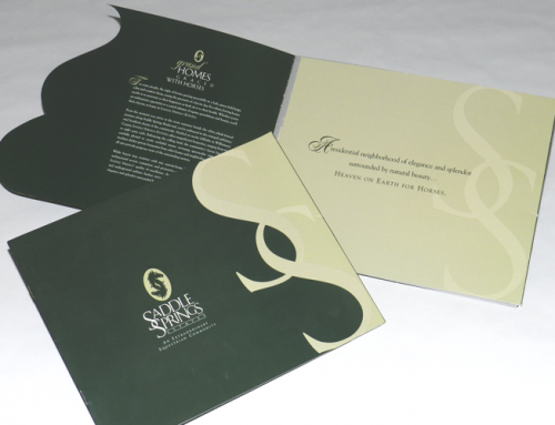 Saddle Springs Estates Brochure & Presentation Folder