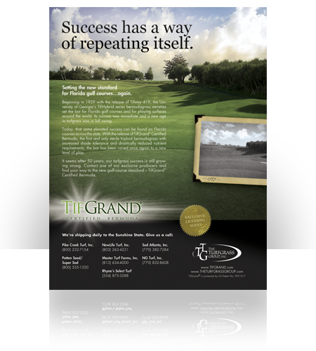 The Turfgrass Group-TifGrand Ad